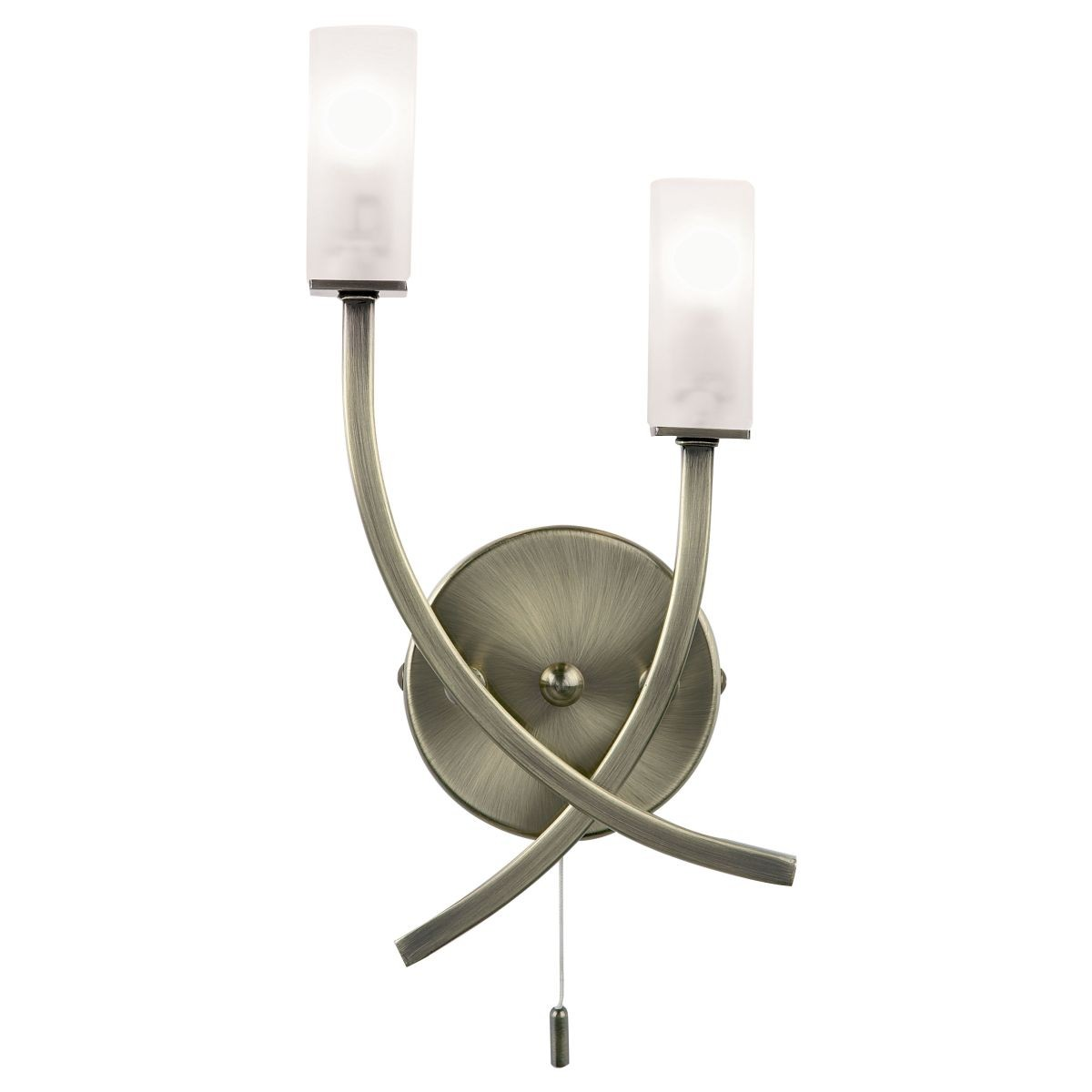 Wall Lights In Brass : Square Acid Glass Wall Light - Antique Brass