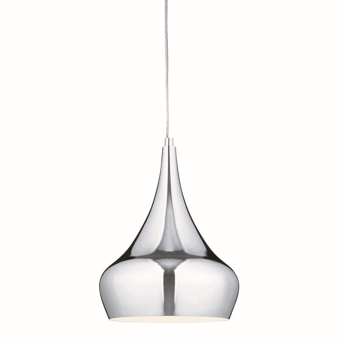 Single modern pendant light chrome Modern pendant lighting