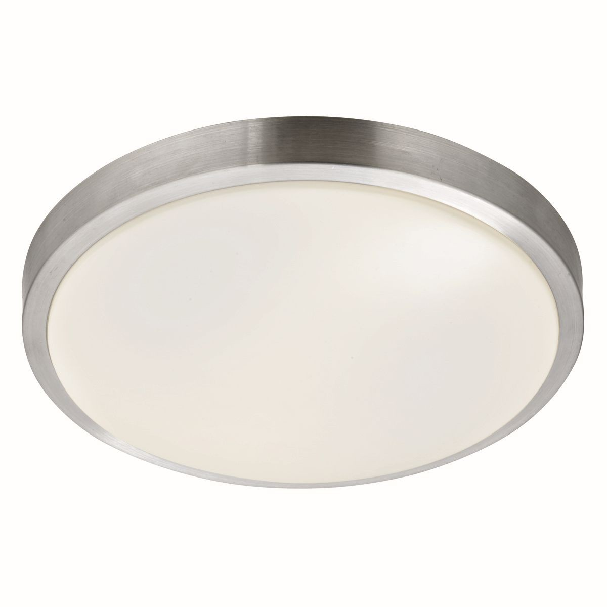 Bathroom Ip44 Flush Ceiling Light Aluminium