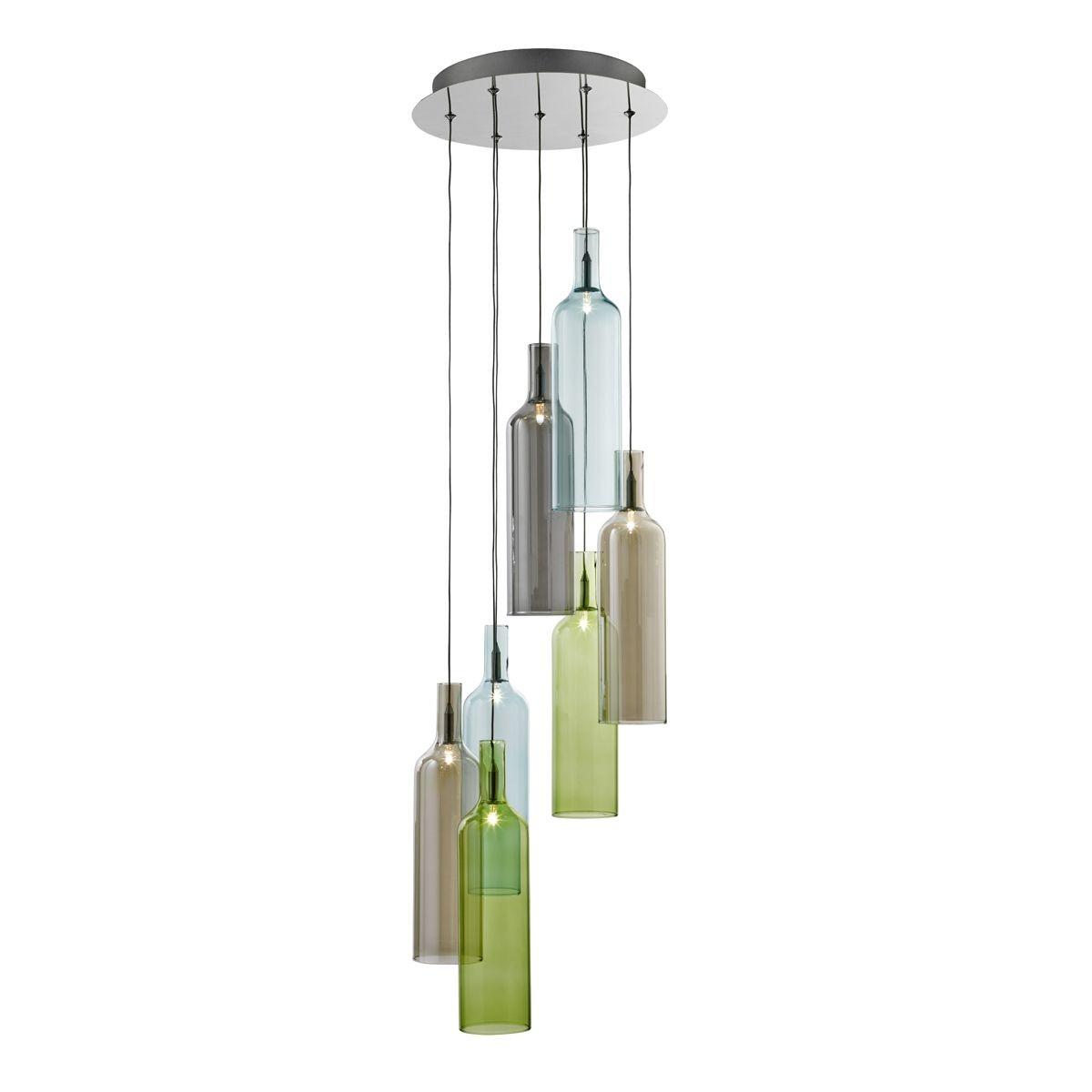 vibrant multi drop 7 light ceiling light chrome with. Black Bedroom Furniture Sets. Home Design Ideas