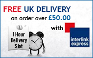 Free UK Delivery on all orders over 50 pounds