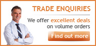 Trade Enquiries, We offer excellent deals on volume orders