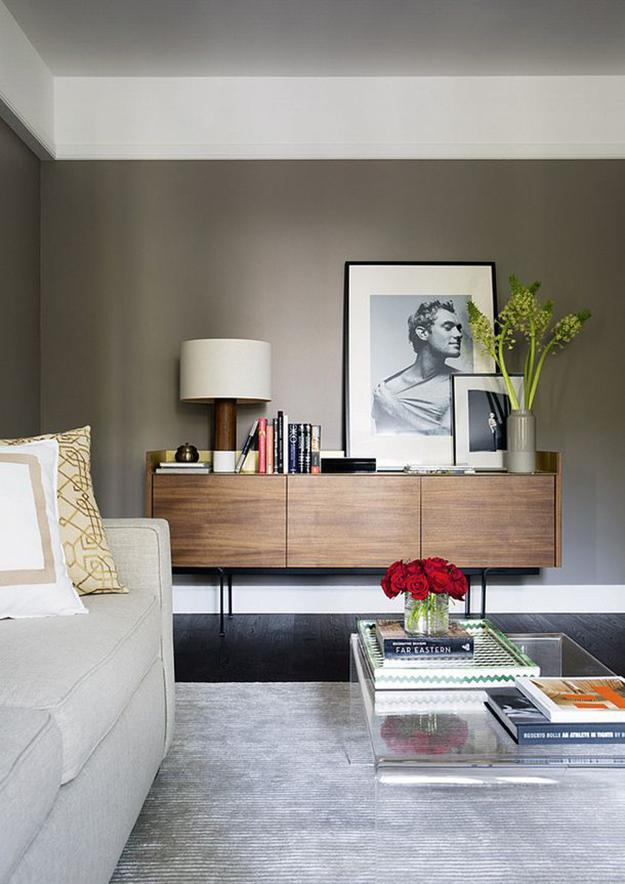 asymmetrical contemporary sideboard