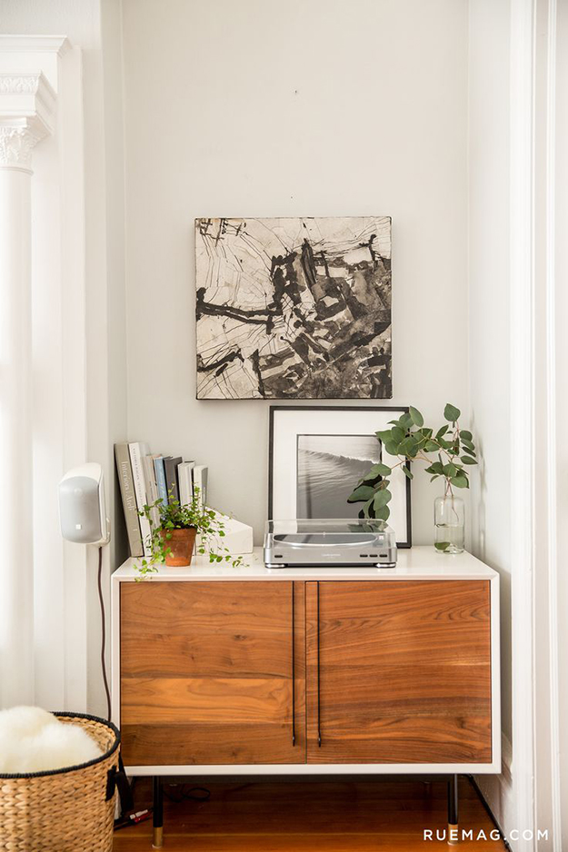 asymmetrical eclectic sideboard