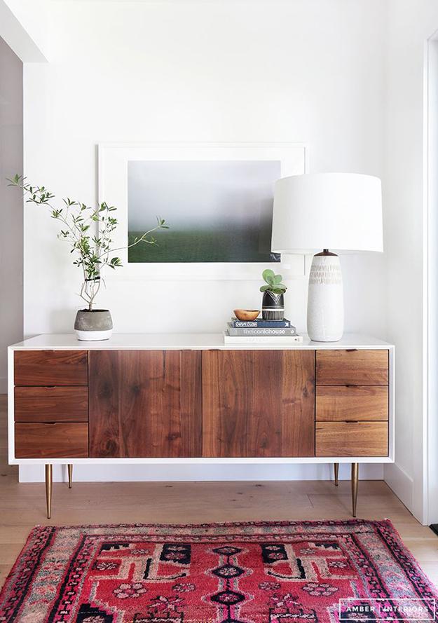 asymmetrical mid century sideboard