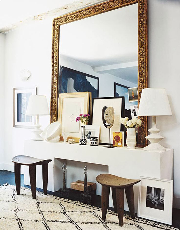 eclectic symmetrical display
