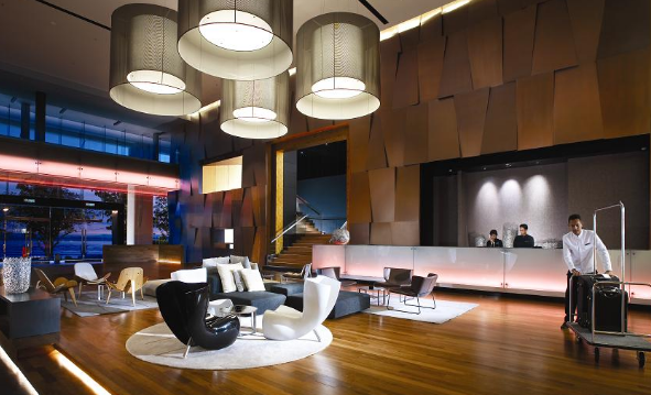 In many hotels the lobby is one of the largest spaces to play with especially if it has high ceilings or even spans multiple floors. Small lights will ... & Lighting essentials for a hotel lobby | The Lighting Expert ... azcodes.com