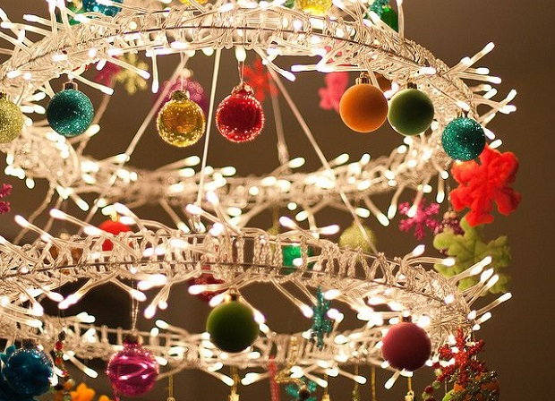 crystal chandeliers christmas fairylights