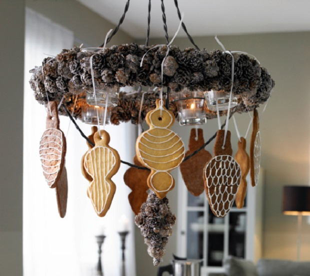 crystal chandeliers christmas gingerbread cookies sweets