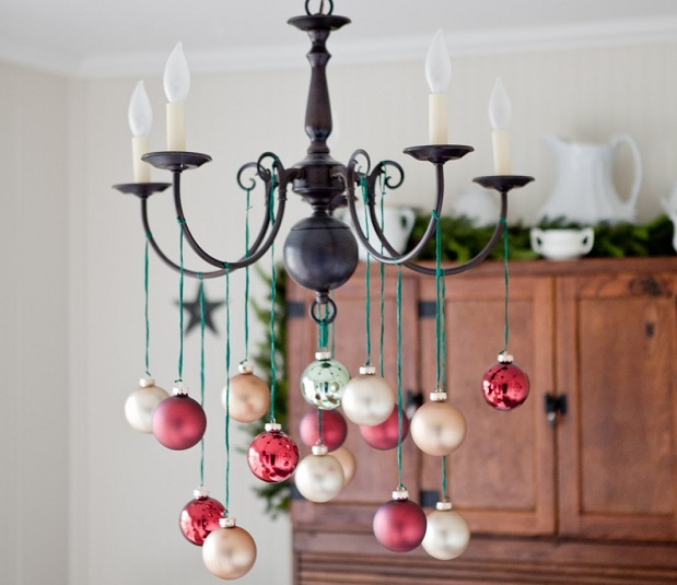 crystal chandeliers christmas simple baubles