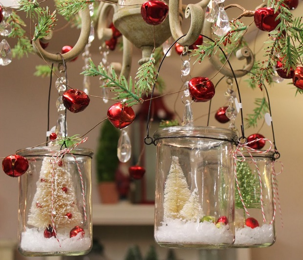 crystal chandeliers christmas mason jars