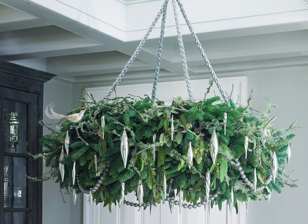 crystal chandeliers christmas foliage
