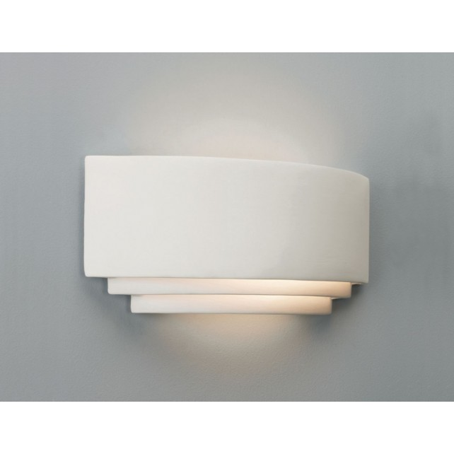 Astro Lighting Amalfi 380 Wall Light - 1 Light, White