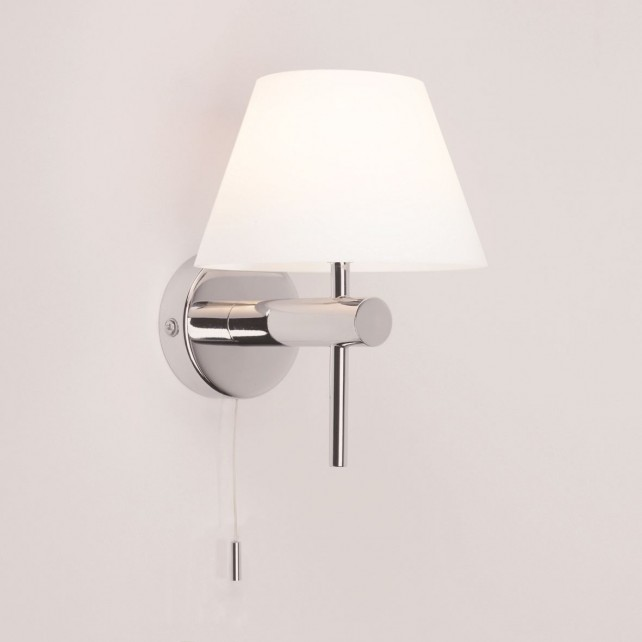 Astro Lighting Roma Switched Wall Light - 1 Light, Polished Chrome