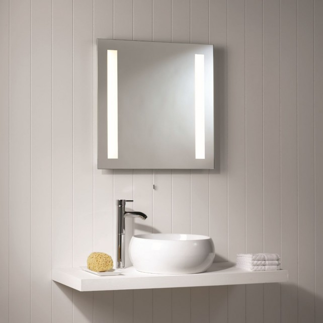 Astro Lighting Galaxy Square Illuminated Mirror - 2 Light, Mirror