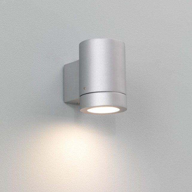 Astro Lighting Porto Plus Wall Light - 1 Light, Painted Silver