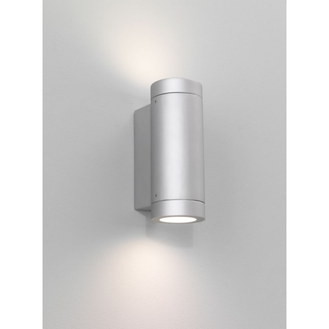 Astro Lighting Porto Plus Wall Light - 2 Light, Painted Silver
