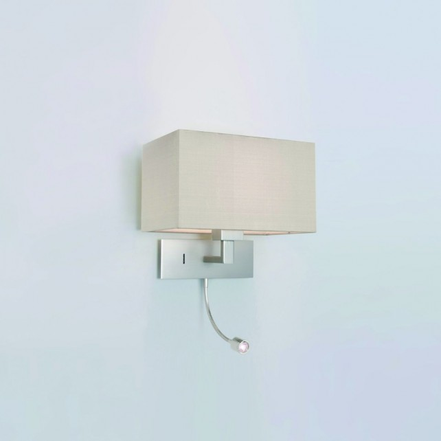 Astro Lighting Park Lane Grande LED Wall Light - 1 Light, Matt Nickel