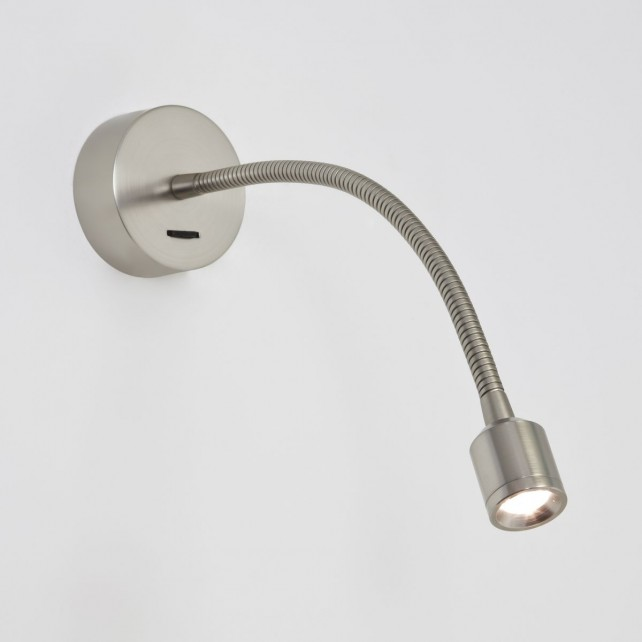 Astro Lighting Fosso Switched Wall Light - 1 Light, Matt Nickel