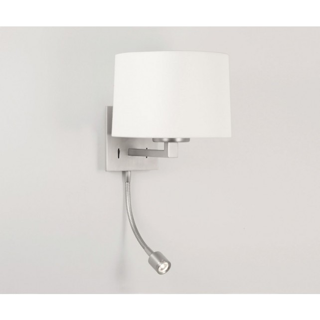 Astro Lighting Azumi LED Classic Wall Light - 1 Light, Matt Nickel