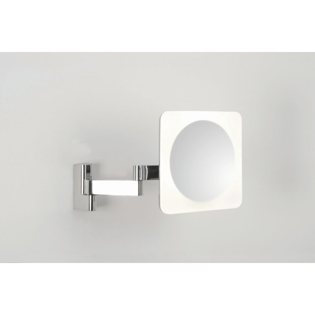 Astro Lighting Niimi Square LED Magnifying Mirror - 4 Light, Polished chrome