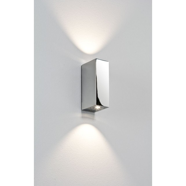 Astro Lighting Bloc Wall Light - 2 Light, Polished Chrome