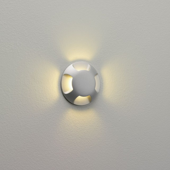 Astro Lighting Beam Four Exterior Wall Light - 1 Light, Painted Silver