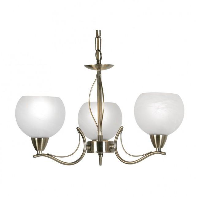Luanda Ceiling Light - 3 Light, Antique Brass