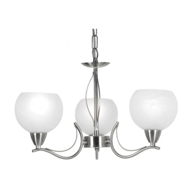 Luanda Ceiling Light - 3 Light, Antique Chrome