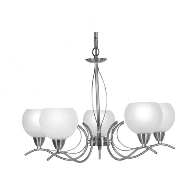Luanda Ceiling Light - 5 Light, Antique Chrome
