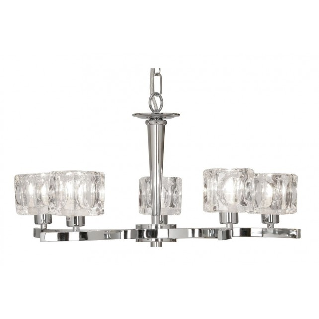 Oaks Lighting 1123/5 CH Tao Chrome Ceiling Light