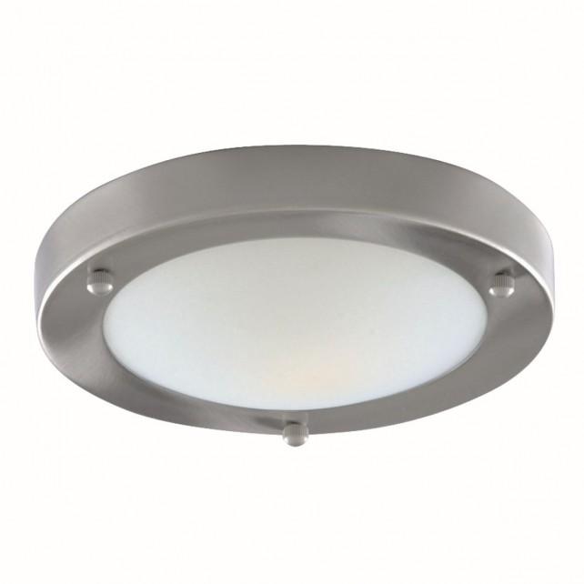 Flush Bathroom Light - Marble Glass IP44