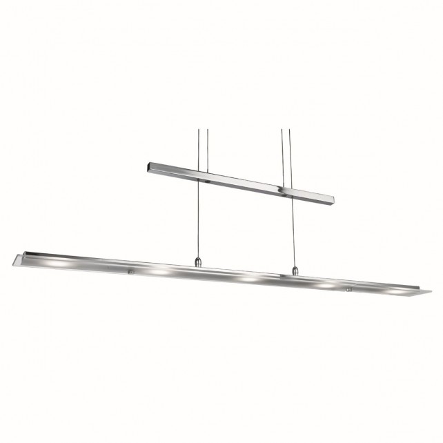 LED YOYO Bar Light - 5 Light, Chrome with Frosted, Clear Glass