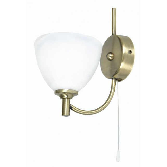 Oaks Lighting 1178/1 AB Hamburg Antique Brass W/Light