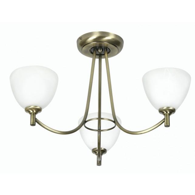 Hamburg Decorative Ceiling Light - 3 Light, Antique Brass