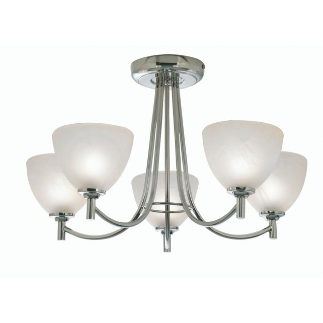 Hamburg Decorative Ceiling Light - 5 Light, Chrome