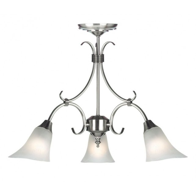 Frosted Opal Glass Ceiling Light - 3 Light AS