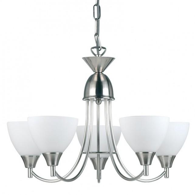 Dynasty Ceiling Light - 5 Light Satin Chrome
