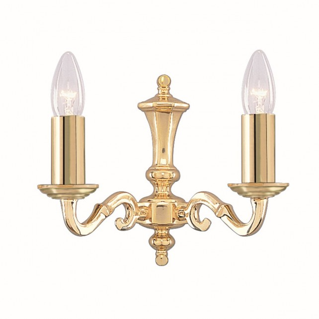 Seville Wall Light - Dual Light Solid Brass