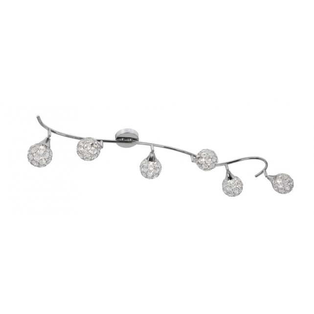 Lana Ceiling Light - 6 Light, Chrome