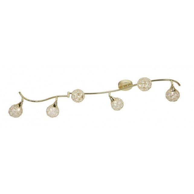Lana Ceiling Light - 6 Light, Polished Brass