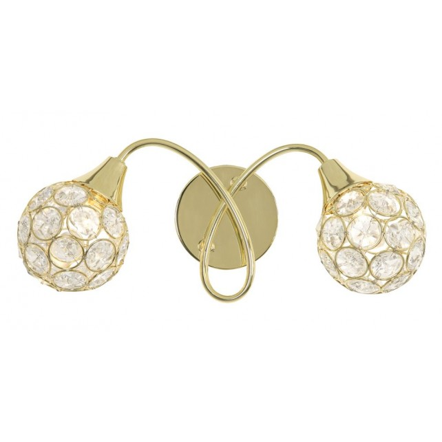 Oaks Lighting 2184/2 PB Lana Brass Wall Light