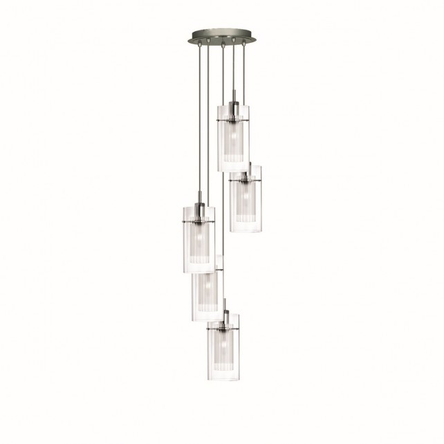 Duo 1 Ceiling Light - 5 light pendant