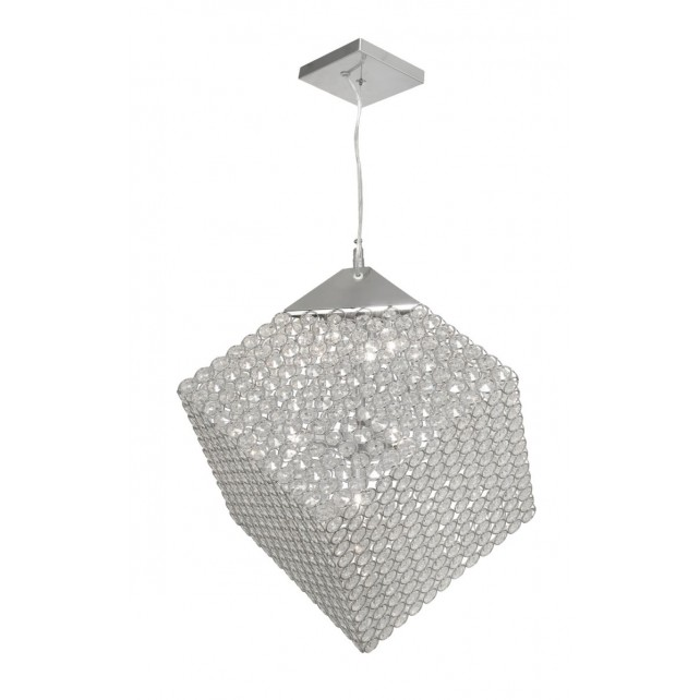 Oaks Lighting 2314/7 CH Blitz Chrome Cube Pendant