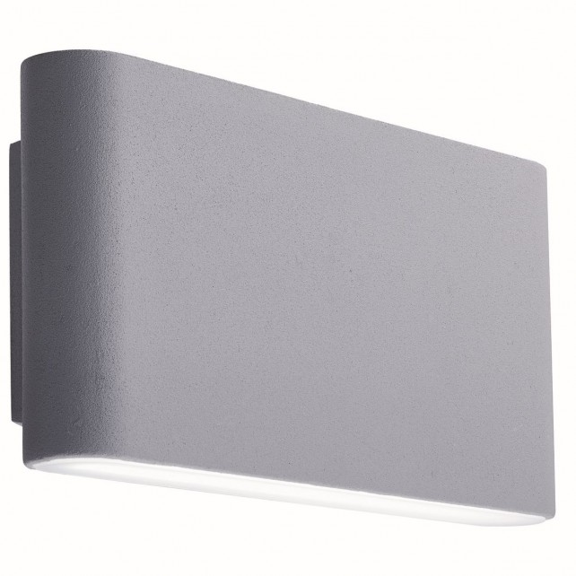 Led Outdoor Wall Bracket, Grey, Frosted Diffuser