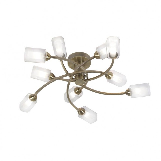 Oaks Lighting 2710/10 AB Ofira Antique Brass C/Light