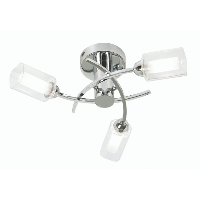 Oaks Lighting 2710/3 CH Ofira Chrome C/Light
