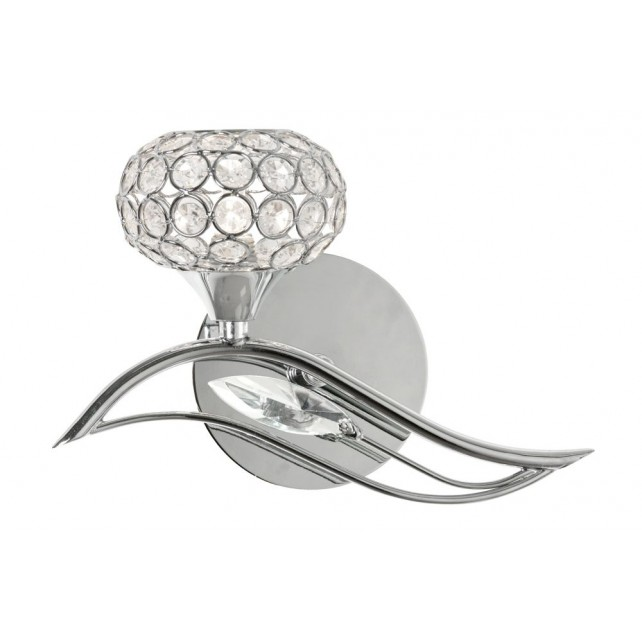 Oaks Lighting 3050/1 L CH Esmee Chrome Wall Light Left