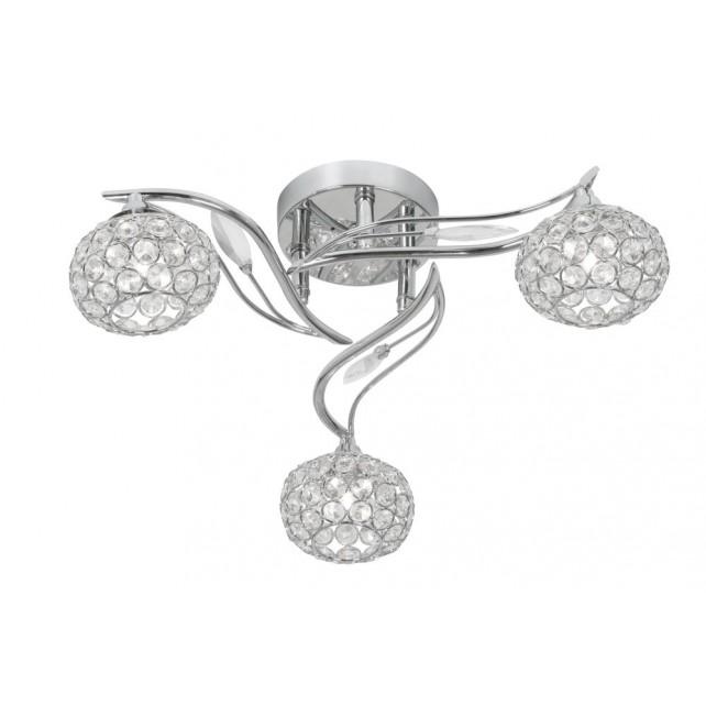 Oaks Lighting 3050/3 CH Esmee Chrome Semi Flush