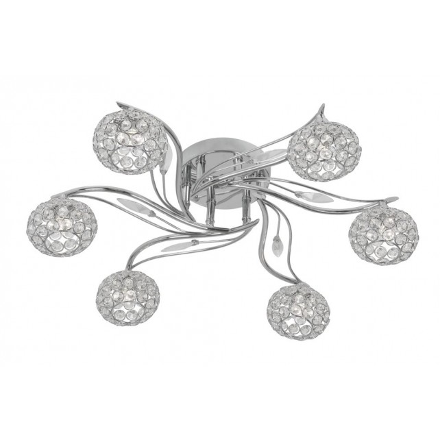 Esmee 6 Light Semi Flush Ceiling Light - Chrome